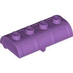 Medium Lavender Container, Treasure Chest Lid - Thick Hinge