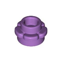 Medium Lavender Plate, Round 1 x 1 with Flower Edge (5 Petals) - new