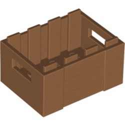 Medium Nougat Container, Crate 3 x 4 x 1 2/3 with Handholds - used