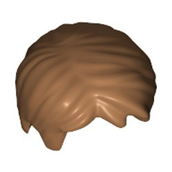 Medium Nougat Minifigure, Hair Short Tousled with Side Part - new