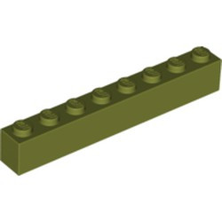 Olive Green Brick 1 x 8 - new