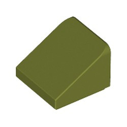 Olive Green Slope 30 1 x 1 x 2/3 - used