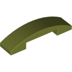 Olive Green Slope, Curved 4 x 1 Double - used