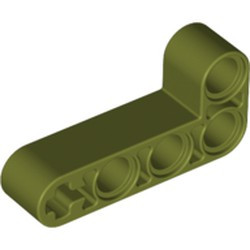 Olive Green Technic, Liftarm 2 x 4 L-Shape Thick - new