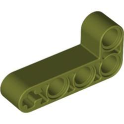 Olive Green Technic, Liftarm, Modified Bent Thick L-Shape 2 x 4