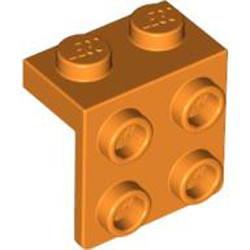 Orange Bracket 1 x 2 - 2 x 2 - used