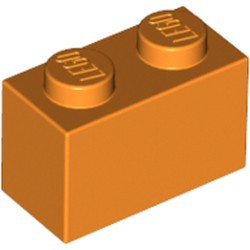 Orange Brick 1 x 2 - used