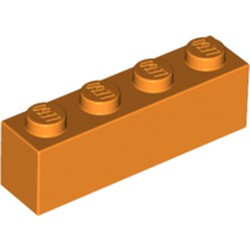 Orange Brick 1 x 4 - new