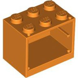 Orange Container, Cupboard 2 x 3 x 2 - Solid Studs - used