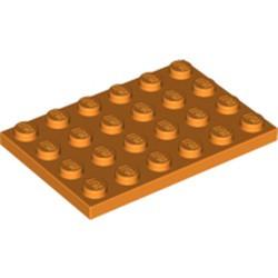 Orange Plate 4 x 6 - used