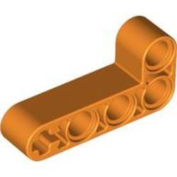 Orange Technic, Liftarm, Modified Bent Thick L-Shape 2 x 4
