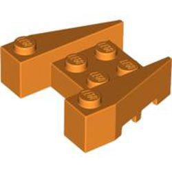 Orange Wedge 3 x 4 with Stud Notches