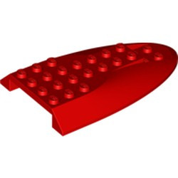 Red Aircraft Fuselage Aft Section Curved Top 6 x 10