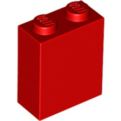 Red Brick 1 x 2 x 2 with Inside Stud Holder - new