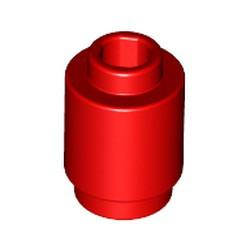 Red Brick, Round 1 x 1 Open Stud - new