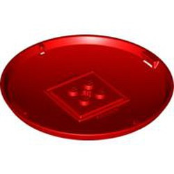 Red Container, X-Pod Bottom Cap 9 x 9 x 1 - used