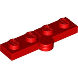 Red Hinge Plate 1 x 4 Swivel Base with Same Color Hinge Plate 1 x 4 Swivel Top (2429 / 2430) - used