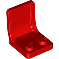 Red Minifigure, Utensil Seat (Chair) - used 2 x 2 with Center Sprue Mark
