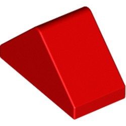 Red Slope 45 2 x 1 Double - with Bottom Stud Holder - new