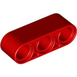Red Technic, Liftarm 1 x 3 Thick - new