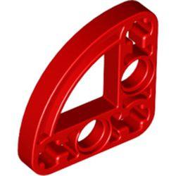 Red Technic, Liftarm, Modified L-Shape Quarter Ellipse Thin 3 x 3