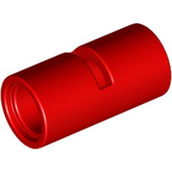 Red Technic, Pin Connector Round 2L with Slot (Pin Joiner Round) - used