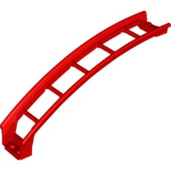 Red Train, Track Roller Coaster Ramp Large Upper Part, 6 Bricks Elevation - new