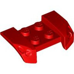 Red Vehicle, Mudguard 2 x 4 with Headlights Overhang