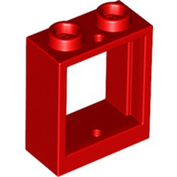 Red Window 1 x 2 x 2 Flat Front - used