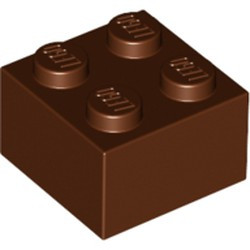 Reddish Brown Brick 2 x 2 - used