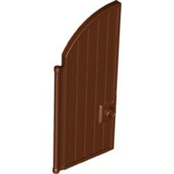 Reddish Brown Door 1 x 4 x 7 2/3 Curved Top