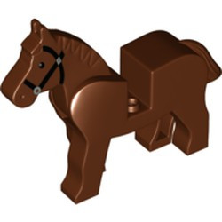 Reddish Brown Horse with Black Eyes, Silver Pupils and Black Bridle Pattern - used