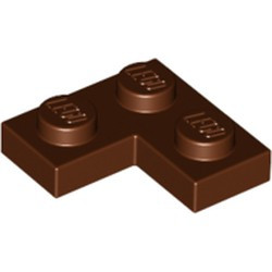 Reddish Brown Plate 2 x 2 Corner - used