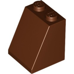 Reddish Brown Slope 65 2 x 2 x 2 with Bottom Tube - new