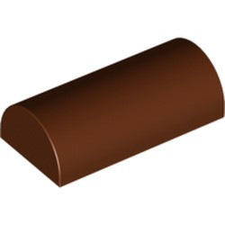 Reddish Brown Slope, Curved 2 x 4 Double - used