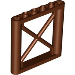 Reddish Brown Support 1 x 6 x 5 Girder Rectangular