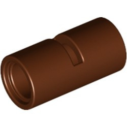 Reddish Brown Technic, Pin Connector Round 2L with Slot (Pin Joiner Round) - used