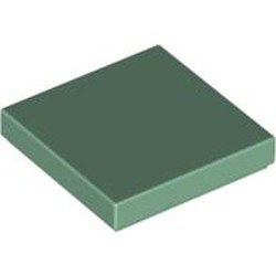 Sand Green Tile 2 x 2 with Groove - new