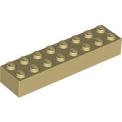 Tan Brick 2 x 8 - new