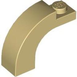 Tan Brick, Arch 1 x 3 x 2 Curved Top - new