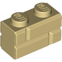 Tan Brick, Modified 1 x 2 with Masonry Profile