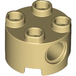 Tan Brick, Round 2 x 2 with Pin Holes
