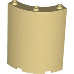 Tan Cylinder Quarter 4 x 4 x 6 - used