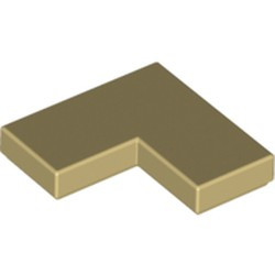 Tan Tile 2 x 2 Corner - new