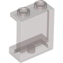 Trans-Black Panel 1 x 2 x 2 with Side Supports - Hollow Studs