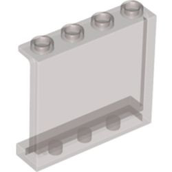 Trans-Black Panel 1 x 4 x 3 with Side Supports - Hollow Studs