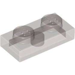Trans-Black Plate 1 x 2