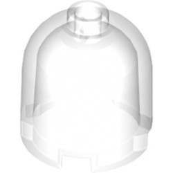 Trans-Clear Brick, Round 2 x 2 x 1 2/3 Dome Top - Hollow Stud - new