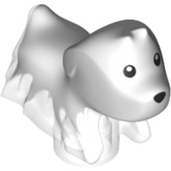 Trans-Clear Dog, Ghost with Marbled White Pattern (Spencer) - new