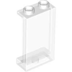 Trans-Clear Panel 1 x 2 x 3 with Side Supports - Hollow Studs